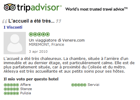 Again, happy guests witness on Tripadvisor